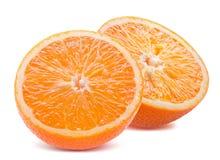 Oranges isolated on a white background Stock Photos