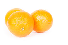 Oranges. Isolated on a white background Royalty Free Stock Photography