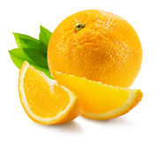 Oranges isolated on the white background Royalty Free Stock Photos