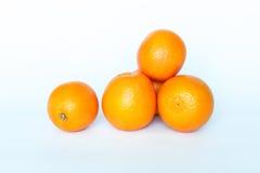 Oranges. Isolated on White Background Stock Photos
