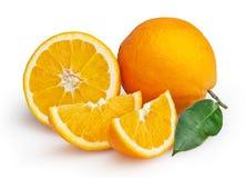 Oranges isolated on white background Royalty Free Stock Images