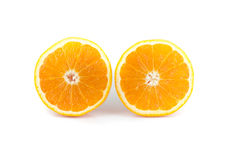 Oranges isolated on white background Royalty Free Stock Photos