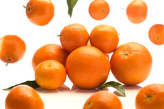 Oranges isolated on white. Some oranges isolated on a white background stock photo