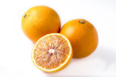 Oranges isolated on white Royalty Free Stock Image