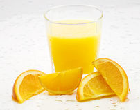 Oranges and juice Royalty Free Stock Photo