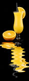 Oranges and juice Stock Photos