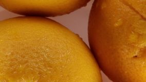 Oranges from juice. Bio restaurant stock video footage