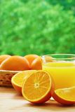 Oranges and juice Stock Photos