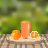 Oranges and juice Royalty Free Stock Photos