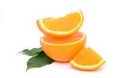 Oranges. Juicy oranges on white isolated background Royalty Free Stock Photo