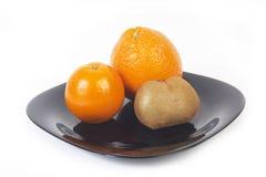 Oranges and kiwi Royalty Free Stock Images
