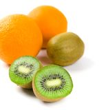 Oranges and kiwi Stock Photo