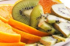 Oranges and kiwi Royalty Free Stock Photos