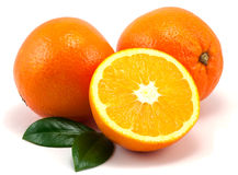 Oranges and Leafs Stock Photography
