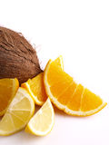 Oranges, lemon, coconut Stock Image