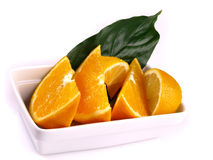 Oranges, lemon, leaf Royalty Free Stock Image