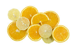 Oranges and lemons. Background from oranges and lemons circles Royalty Free Stock Photo