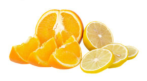 Oranges and lemons Royalty Free Stock Photography