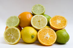 Oranges, lemons and limes Stock Photography