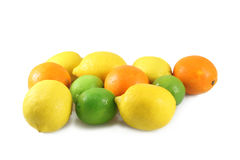 Oranges, lemons, limes Stock Photos