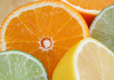 Oranges, lemons, limes, citrus fruits Royalty Free Stock Photo