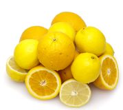 Oranges and lemons Royalty Free Stock Photos