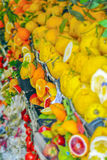 Oranges, lemons and other citrus fruits in a sicilian market Stock Images