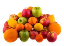 Oranges and lemons, red and green apples Royalty Free Stock Image
