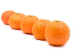 Oranges lined up Royalty Free Stock Photos