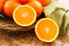 Oranges mûres juteuses Photo stock