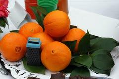 Oranges mûres pour des plats Photo libre de droits
