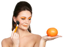 Oranges and make-up Royalty Free Stock Photos