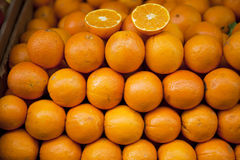 Oranges. At the market of Athens Stock Photography
