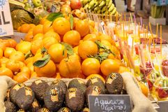 Oranges in the market Royalty Free Stock Images