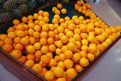 Oranges fruit on market stall stock photography