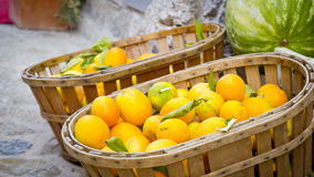 Oranges market Royalty Free Stock Image