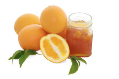 Oranges with marmalade Royalty Free Stock Image