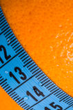 Oranges with measuring tape. Stock Images
