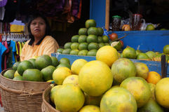 Oranges. Merchants hawked oranges in Karanganyar, Central Java, Indonesia Stock Photos