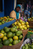 Oranges. Merchants hawked oranges in Karanganyar, Central Java, Indonesia Royalty Free Stock Photos