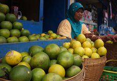 Oranges. Merchants hawked oranges in Karanganyar, Central Java, Indonesia Stock Images