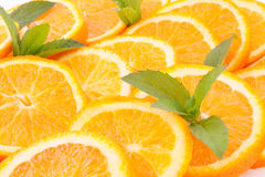 Oranges and  mint Stock Images