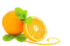 Oranges and mint Royalty Free Stock Image