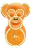 Oranges & monkey. The monkey made from Objects with orange Stock Photos