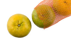 Oranges in net Royalty Free Stock Photo