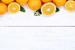 Oranges orange fruits copyspace top view. Copy space Royalty Free Stock Photography