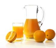 Oranges and orange juice Stock Image