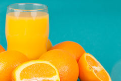 Oranges and Orange Juice Stock Photo