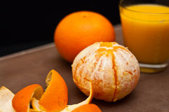 Oranges and orange juice Royalty Free Stock Photography