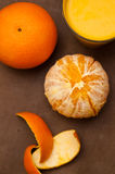 Oranges and orange juice Royalty Free Stock Image